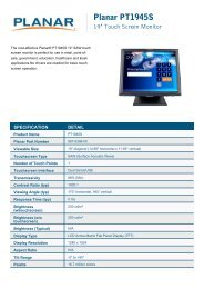 PT1945S - Single Touch Monitor - Planar