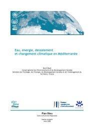 Eau, énergie, dessalement et changement climatique en ... - Plan Bleu