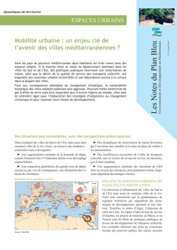 Mobilité urbaine - Plan Bleu