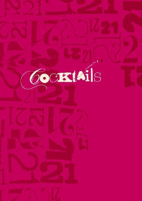 Cocktail Menu - 21 Social