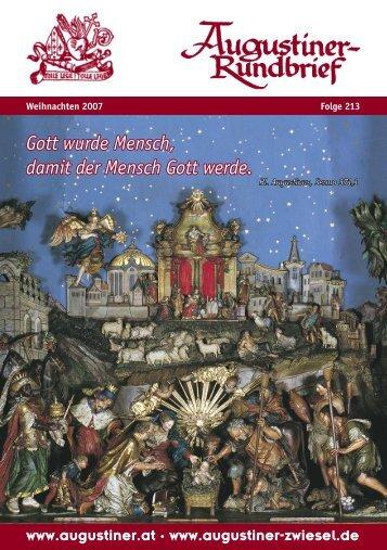 Weihnachten 2007 - Augustiner