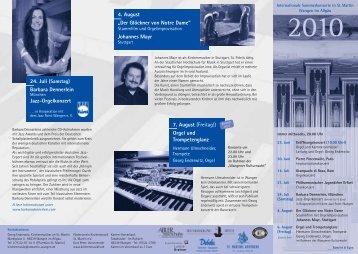 Internationale Sommerkonzerte - Flyer - Förderverein Kirchenmusik ...