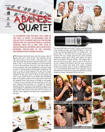 Cuisine & Wine Singapore – Jul Aug 2013 ... - Mozaic Bali