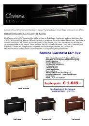 Yamaha Clavinova CLP-430 - Musikhaus Egger