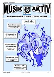 Jugendarbeit Rückblick 2000 Termine 2001 ... - MV - St. Ulrich