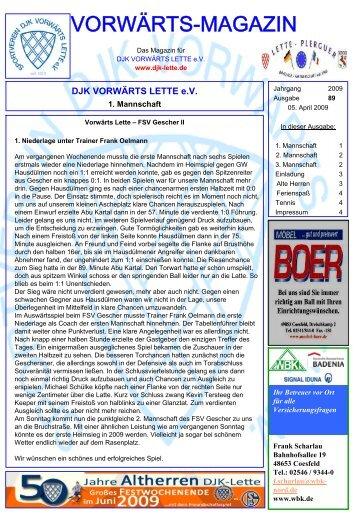 Ausgabe 89 - DJK Vorwärts Lette eV