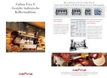 Cafina Viva S Prospekt - Planerhandbuch