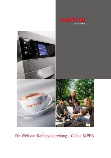 Die Welt der Kaffeezubereitung – Cafina ALPHA - Planerhandbuch