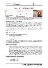 Bauten- und Objektbeschichter/in Steckbrief Bauten ... - BERUFEnet