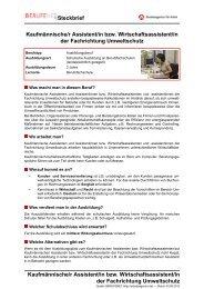 Kaufmännische/r Assistent/in bzw. Wirtschaftsassistent ... - BERUFEnet