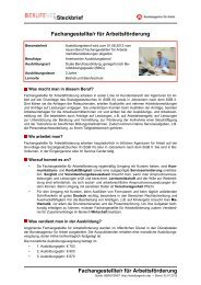 Fachangestellte/r für Arbeitsförderung - BERUFEnet ...