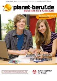 Schritt für Schritt zur Berufswahl, Ausgabe 2009/2010 - Planet Beruf.de