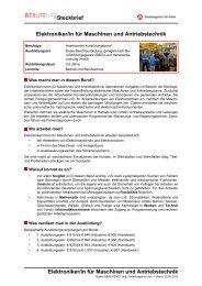 Elektroniker/in für Maschinen und Antriebstechnik ... - BERUFEnet