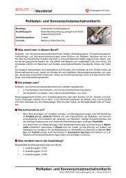 Rollladen- und Sonnenschutzmechatroniker/in ... - BERUFEnet
