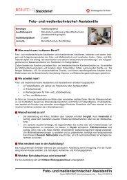 Foto- und medientechnische/r Assistent/in ( PDF ) - Planet Beruf.de