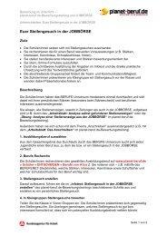 Unterrichtsidee: Euer Stellengesuch in der ... - Planet Beruf.de