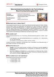 Maschinenbearbeitungstechnik - Planet Beruf.de