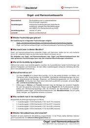 Orgel- und Harmoniumbauer/in Steckbrief Orgel ... - Planet Beruf.de