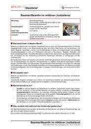 Justizdienst (mittlerer Dienst) ( PDF ) - Planet Beruf.de