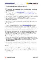 Rollenspiel: Schüler sind Personalentscheider - Planet Beruf.de