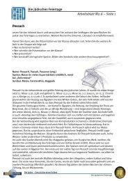 Die Juden – Geschichte eines Volkes - Jüdische ... - Planet Schule