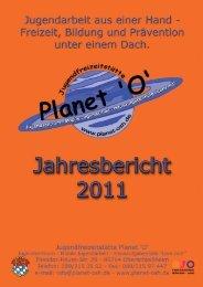 Jahresbericht 2011.indd - Jugendfreizeitstätte Planet 'O'
