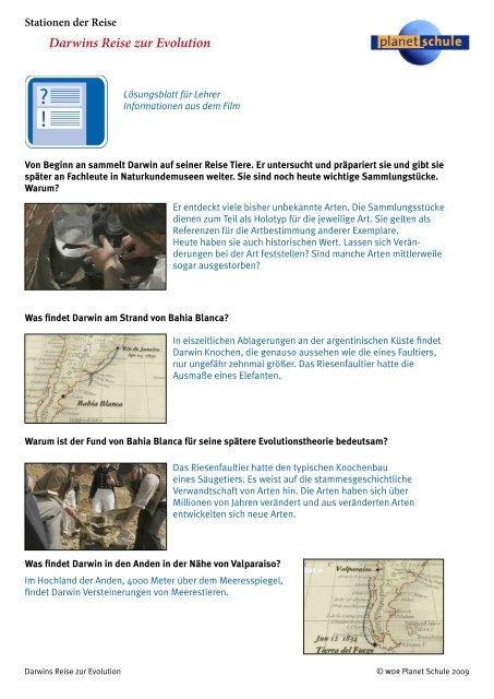 Darwins Reise Zur Evolution
