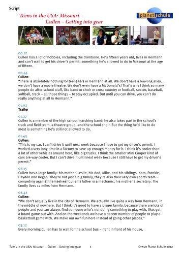 Folge 7 – Getting a Job Arbeitsblatt M1 - Planet Schule