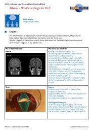 Alkohol und Gesundheit: Kontrollblatt - Planet Schule
