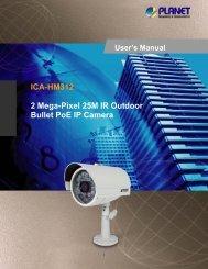 ICA-HM312 2 Mega-Pixel 25M IR Outdoor Bullet PoE IP ... - Planet