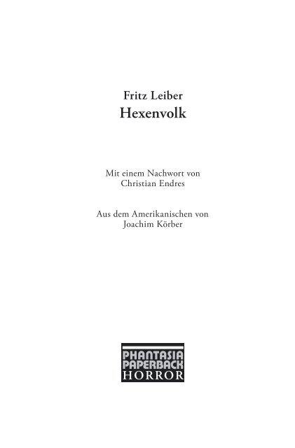 Fritz Leiber Hexenvolk Edition Phantasia