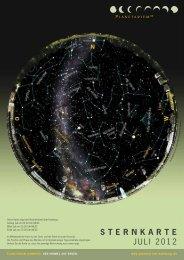 STERNKARTE Juli 2012 - Planetarium Hamburg
