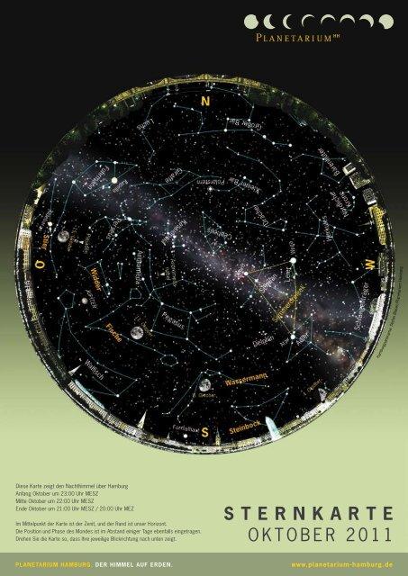 STERNKARTE OktOber 2011 - Planetarium Hamburg