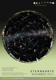 STERNKARTE NOVEMBER 2011 - Planetarium Hamburg