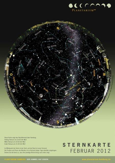 STERNKARTE Februar 2012 - Planetarium Hamburg