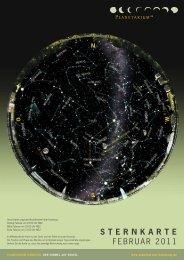 STERNKARTE Februar 2011 - Planetarium Hamburg