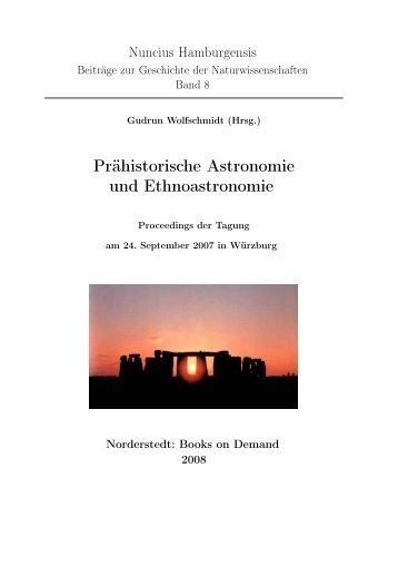 Prähistorische Astronomie und Ethnoastronomie - Planetarium ...