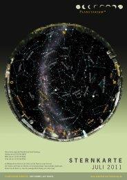 STERNKARTE Juli 2011 - Planetarium Hamburg