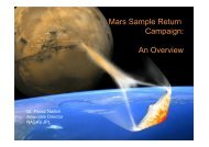 Mars Sample Return Campaign - International Planetary Probe ...