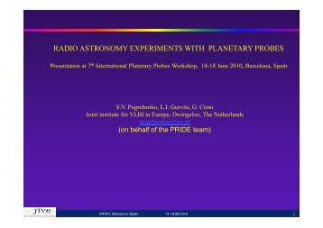 radio astronomy experiments with planetary probes - International ...