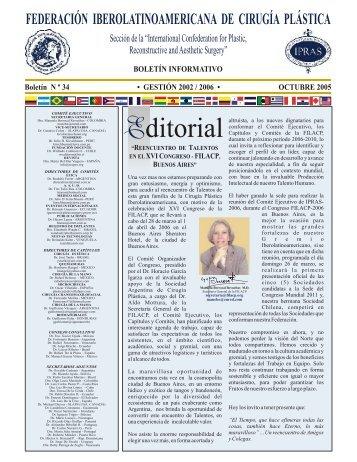 Boletín Nº 34, Octubre del 2005 Boletín Informativo Gestión 2002
