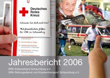 Jahresbericht 2006 - DRK Kreisverband Schaumburg