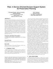 A Service Oriented Decision Support System for Preservation Planning
