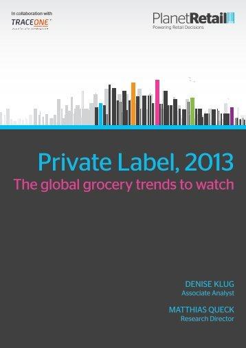 Private Label, 2013 - Planet Retail