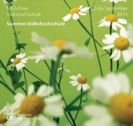 Sommerprogramm 2011 - Deutsches Institut für Erwachsenenbildung