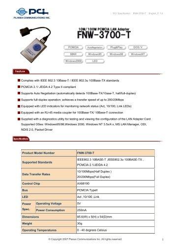 Planex GW-NS54G Windows 7