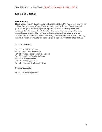 Land Use Chapter - PLANiTULSA