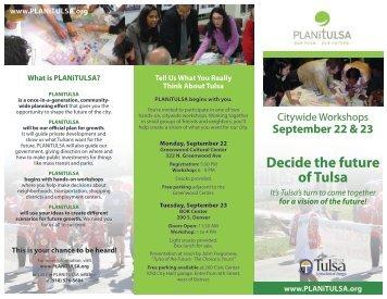 Decide the future of Tulsa - PLANiTULSA