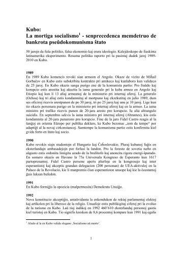 Kubo: La mortiga socialismo1 - senprecedenca memdetruo de ...
