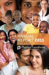 the 2011 Annual Report - Planned Parenthood